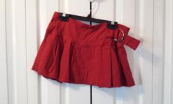 Ladies Red Skirt with Buckle Brand: Digital Size: Med