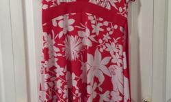 Ladies Red and White Summer Dress Brand: Jessica Size: 10