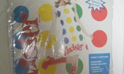 Hi I am selling a ladies large twister costume. it includes the printed dress, and a spinner hat. asking $30.00 OBO contact if intrested