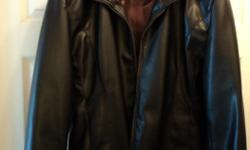 Dark chocolate brown faux leather jacket in excellent condition on worn a couple of times.