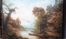 """Beautiful classic landscape hand-painted oil on canvas. Measures 24x30"""" Inches. St. Clair West & Caledonia Road"""