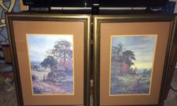 two 18X25 in paintings by Gallon in original frames