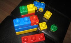 Large Duplo Blocks which include 12 blocks and 1 car Good for ages 1 1/2 to 5 $5 can meet in west end of ottawa (kanata) or pickup in Constance Bay