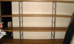 Ikea shelf - barely used. 90.00 Oshawa pick up. Adjustable feet; so it stands steady on an uneven floor. Size: 170 x 33 x 158