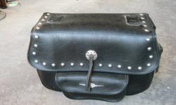 Large black leather saddle bags.  Great deal.  Just e-mail me.