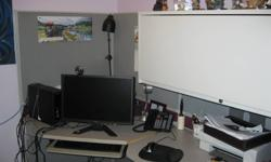 Large Office Cubicle....large side table with it (not shown) $275