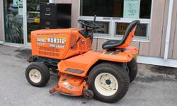 "Kubota 1987 HST G4200 Lawn Tractor 12 HP Diesel VIN 32410 44"" Cut 1155 Hrs"