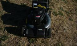 """Self propelled, one year old Craftsman lawnmower with 21"""" blade, bag included, well maintained, easy first pull start,fresh oil, sharp blade, in good running condition"""