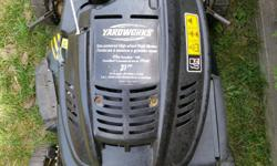 Please text if possible 613 712 1800 or call before 2pm weekdays. YardWorks 173cc side discharge lawnmower in excellent condition. Tuned up new oil brand new blade. Price is firm. Available if you see it.