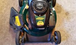 YardWorks side discharge like new $120 Will give you $20 off for your non working lawnmower in good physical condition. Texting is preferred or call before 2pm weekdays. Price is firm.