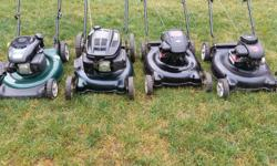 YardWorks lawnmower mulch or side discharge $100 each firm. Yard machines lawnmower mulch only no bag $80 each firm. Please text if possible.