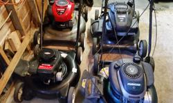 Lawnmowers from $60-$120 Will give you $20 discount for your non working lawnmower must be in good physical condition. There is no bag. Texting is preferred. Sorry can't answer call after 2pm weekdays text anytime.
