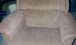I am Selling this Recliner Since I got a new Sectional couch with 4 recliners. So i no longer have room for it. Its in absolute great condition. no stains(looks like it does a bit in the piture but its the lighting.. more then welcome to come see it)  no