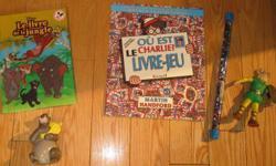Le livre de la jungle et jouet comme neuf. Ou est Charlie? est utilisé mais encore des activités à faire. Le baton est un jeu Ou est Charlier? Recevez un poster gratuit avec cet achat. Le prix est pour le tout. Voir nos autres annonces.