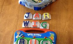 Extra Set of letters to make lots of words. Needs batteries, magnetic for fridge.