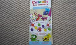 Learn Colours Wipe-Clean Books are a fun way for kids to practice essential learning skills in both English and French! Do, Learn, Wipe, Repeat! Designed for use with water-based markers and crayons, kids can practice again and again until they have a