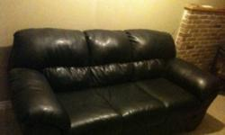Black leather couch and love seat with a black leather rocking chair good condition! This ad was posted with the Kijiji Classifieds app.