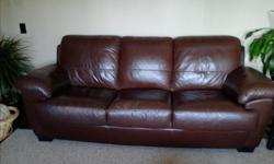 Leather, couch chair and ottoman. Good condition no rips slightly worn in a couple areas. Perfect for cottage or camp