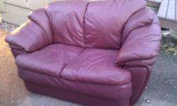 Very comfortable 3 and 2 seater set of couches Not faded Some damage as can be seen in the pictures (could probably stitch it up) but thats the reason for the low price! Can DELIVER for 35 604-812-4002