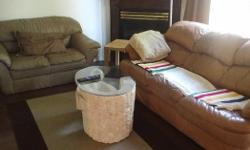 Used mostly for staging purposes. 3 seater - $100 2 seater - $100 Stone marble glass coffee table $150 All - $300 Pick up only