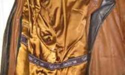 """Men's Small Brown leather jacket with Liner that can be unzipped! Recently been re-tanned. Very good quality. It is a """"Safori Collection"""". Call 604-392-5998 or text 778-982-4336"""