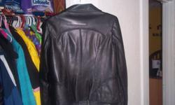 i have a womens leather jacket from danier leather, bought 2 years ago for 200.00 selling it for 50.00. size med, color black, hardly ever worn. obo