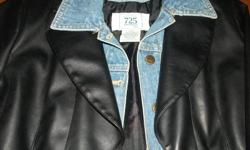 Nice leather/jean jacket size small like new only wore 2-3 tops just to small asking 20.00 o.b.o