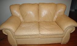 2 high quality, excellent condition, supple leather love seats.