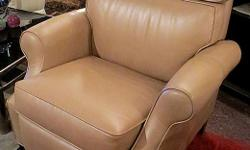 Thank you for your interest in our Reclining Chair. *Excellent condition *Very comfortable *Leather *Measures: 40 inches H, x 34 inches W, x 35 inches D Hours: * Tues 11 - 4 pm, * Wed & Thurs 11 - 7 pm (open nights), * Fri 11am - 4pm, * Sat 10am - 4pm