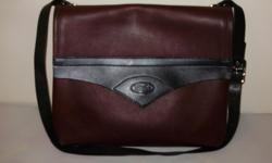 """Solid leather,by Bike leather company. 15""""W 13""""H 33"""