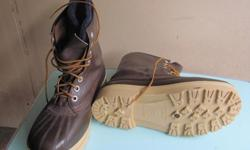 New thick leather men size 10 working boots with removable insole