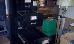 5 drawer upright legal filing cabinet; black; 28? deep drawers on roller bearing guides; Needs a little cleanup.   $95 Brantford