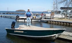 This is a great fishing / cottage boat equipped with electric start, power trim at the cockpit, electric bilge pump, lights and livewell and fishing rod holders, also comes with full tarp for boat and motor. Comes with a shorelander bunk trailer. The