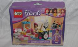 Hello, we are selling a new, sealed Lego Friends set, #3939, Mia's Bedroom. The set is new in a sealed box, but the box has a lot of dents and creases. It looks like it was squished. Not ideal as a display piece, but a cool set to open and build. Price is