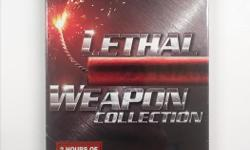 This movie collection includes LETHAL WEAPON 1 to 4, in theatres through the years 1987 to 1998. Brand new and unopened.