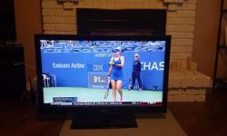 LG LED TV 42 inch Model 42LE5300 Screen size (in.) 42 Display Type LED technology Full HD (1080p) Resolution 1920 x 1080 The TV works fine and the picture is good, but there is a one pixel wide vertical line which is only visible on certain blue