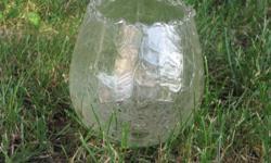 Glass globes.  One 5 tier, one 3 tier.  Yorkton.