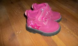 Cute light up boots! Light up when walking! Small scratch on toe (reflected in price). Worn for one season.   Please take a peek at my other ads...group deals!!!
