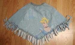 I have a Like New Disney Cinderella Fleece Poncho Toddler Ages 3-5 for sale! This is in excellent condition and would look great in your child's room or to give as a gift. Comes from a non-smoking household. Do not miss out on this excellent opportunity
