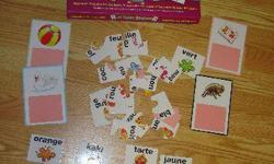 I have a Like New Je Peux Epeler Card Matching Game for sale! This is in excellent condition and would look great in your home or to give as a gift. Comes from a non-smoking household. Do not miss out on this excellent opportunity to get this for a