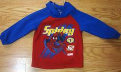 I have a Like New Spiderman Hooded Shirt Size 3T for sale! This is in excellent condition and would look great on your child or loved one or to give as a gift. Comes from a non-smoking household. Do not miss out on this excellent opportunity to get this