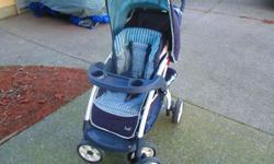 Stroller clean and comfy. No breaks. Back recline needs adjustment.