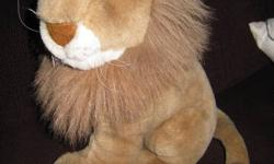 """All are in excellent condition, clean, smoke free home, no rips/stains/smells Pic 1-Stuffed lion $5 Pic 2- Tiger with rattle/growler inside (non battery operated) $5 Pic 3-""""fancy"""" Tiger with satin bow $5 Pic 4-Classic teddy bear, needing a hug! $5 Pic"""