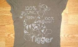 I have a Like New T-Shirt Light Brown Disney Youth Size for sale! This is in excellent condition and would look great in your home or to give as a gift. Comes from a non-smoking household. Do not miss out on this excellent opportunity to get this for a