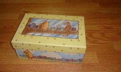 I have a Like New Winnie the Pooh Storage Box for sale! This is in excellent condition and would look great in your child's room or to give as a gift. Comes from a non-smoking household. Do not miss out on this excellent opportunity to get this for a