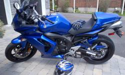 2007 Yamaha FZ6. Sport, limited edition. Colour: Team Yamaha Blue. Engine size is 600cc. This motorcycle has been babied and always stored inside. In mint condition. Looks and rides like a brand new machine. Many Yamaha accessories, including full body