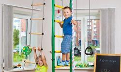 Incredible Sport equipment for kids for your home! Doesn't require much space! No marks after installation! Keeps kids being active all the time! A great alternative to video games and cell phones! Develops muscles, flexibility, coordination! Lots of