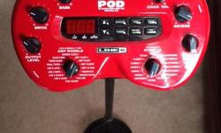 I am selling a Line 6 Pod 2.0 with power supply, carry case, universal bracket with mic stand. Only tried out a couple of times. New condition. h # 613-831-9403