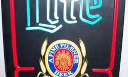 """A working illuminated bar sign, """" Lite Cold Beer"""". it's 20 inches tall, 15 inches wide, and sets out from the wall about 4.5 inches - works great. We are in the north Muskoka area ... Looking for something? Contact us ...."""