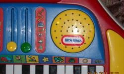 Little Tikes piano lets your child have hours of fun.  Comes with numerous play-a-long cards.  Sound selection includes trumpet, guitar, drums, bells, etc.  Excellent condition - works well.  Price is firm!